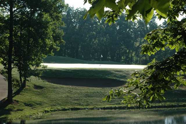 A view of green #4 at East Nine from Stone Crest Golf Community.