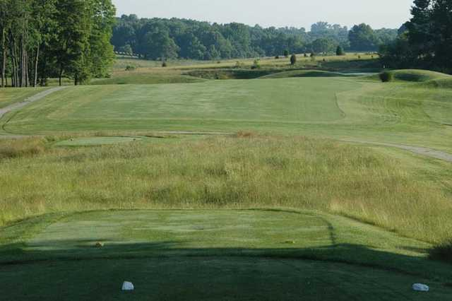 A view from the 5th tee at East Nine from Stone Crest Golf Community.