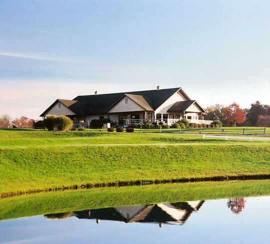 A view of the clubhouse at Stone Crest Golf Community.