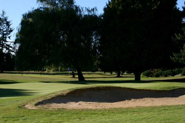 A view of hole #6 at Allenmore Golf Course