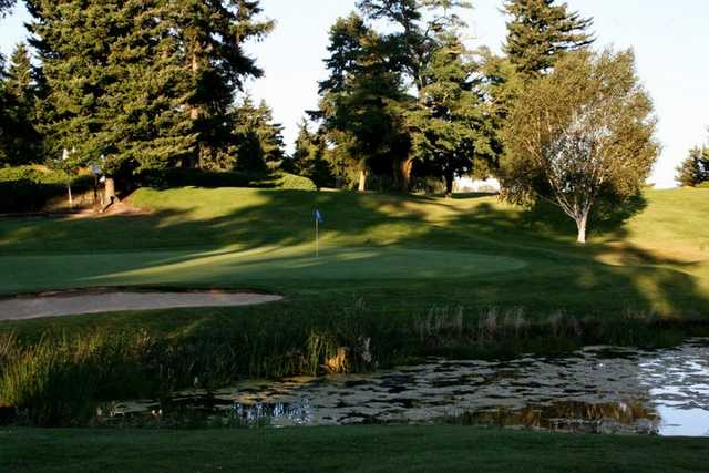 A view of of the 12th hole at Allenmore Golf Course