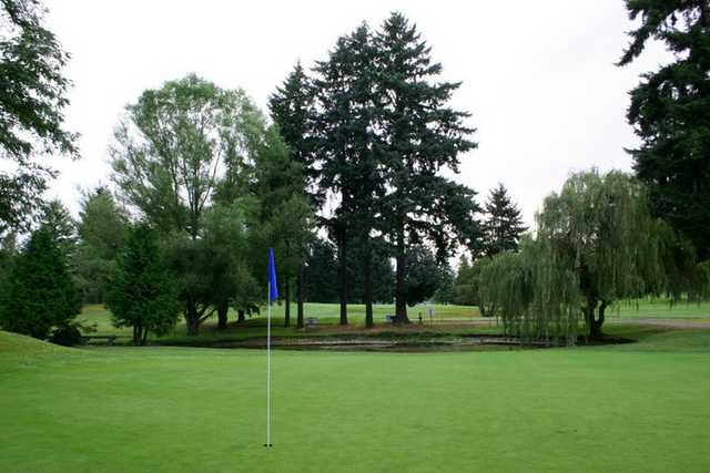 A view of of the 15th green at Allenmore Golf Course