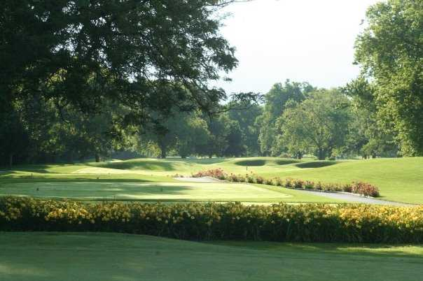 A view from behind the 7th tee box at Chevy Chase Country Club