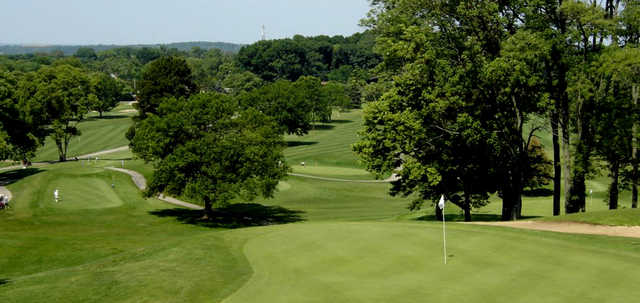 A view of a green at Community Golf Course