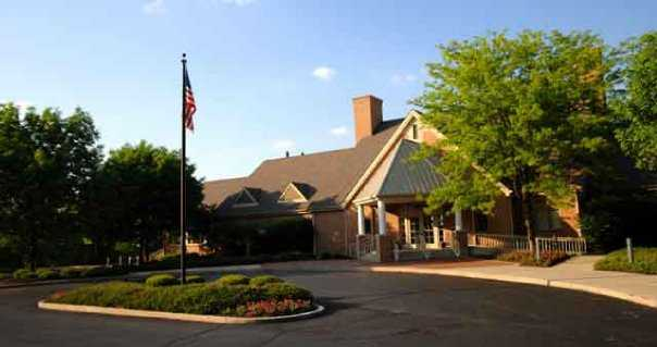 A view of the clubhouse at Heatherwoode Golf Club