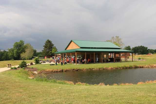 A view of the clubhouse at Majestic Springs Golf Course