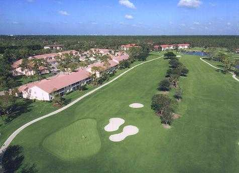 Aerial view of the 17th green at Royal Wood Golf & Country Club