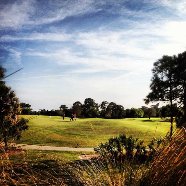 A view of hole #9 at PGA Golf Club - Ryder Course