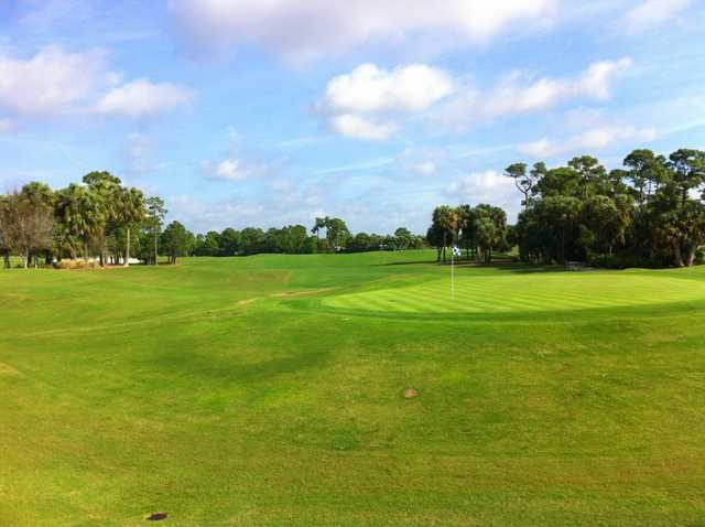 A look back down the 18th fairway at PGA Golf Club - Ryder Course