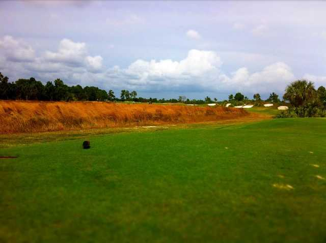 A view from tee #1 at PGA Golf Club - Dye Course
