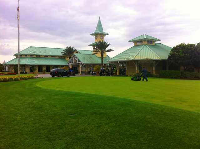 A view of the clubhouse at PGA Golf Club