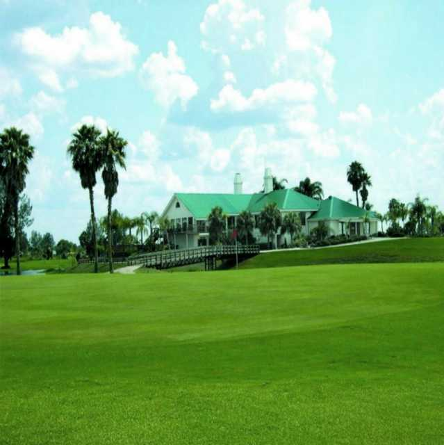A view of the clubhouse at Sebring International Golf Resort.