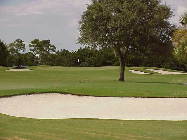 A view of green #4 at Panther Course from Plantation Golf & Country Club