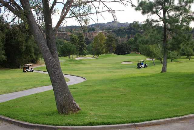 A view of the 10th hole at San Dimas Canyon Golf Course