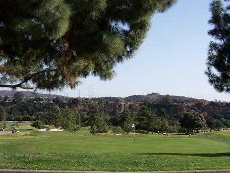 A view of green #18 at San Dimas Canyon Golf Course