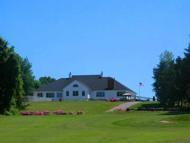 A view of the clubhouse at River Ridge Golf Course