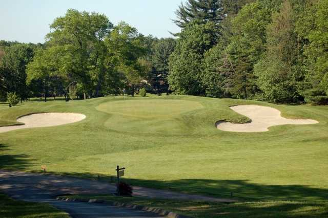 A view of the 5th green at Manchester Country Club
