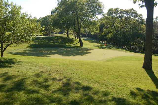 A view of green #8 at Manchester Country Club