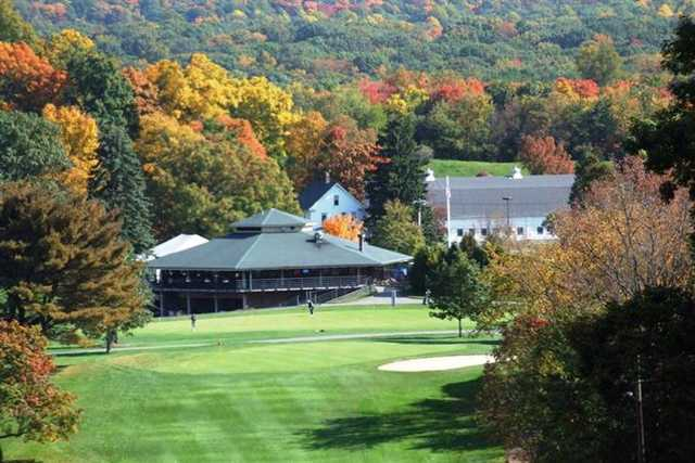 A view of the clubhouse at Hunter Golf Club