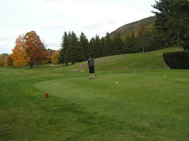 A fall view from tee at Tower Ridge Country Club