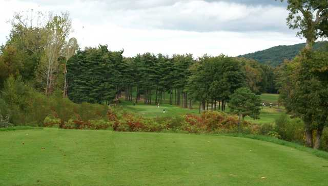 A view from the 6th tee at Hawk's Landing Country Club