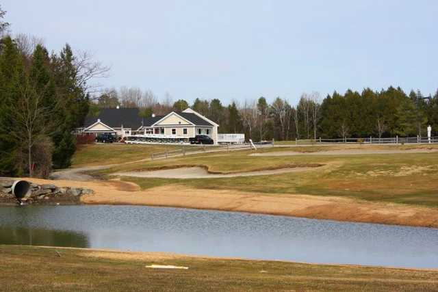 A view of the clubhouse at Val Halla Golf & Recreation Center