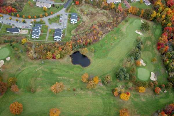 Aerial view from Hickory Ridge Golf Club