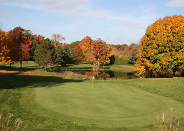 A fall view of green at Oak Ridge Golf Club