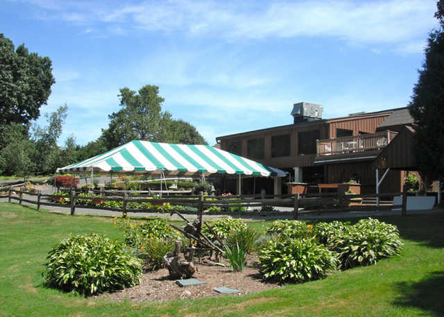 A view of the clubhouse at Oak Ridge Golf Club