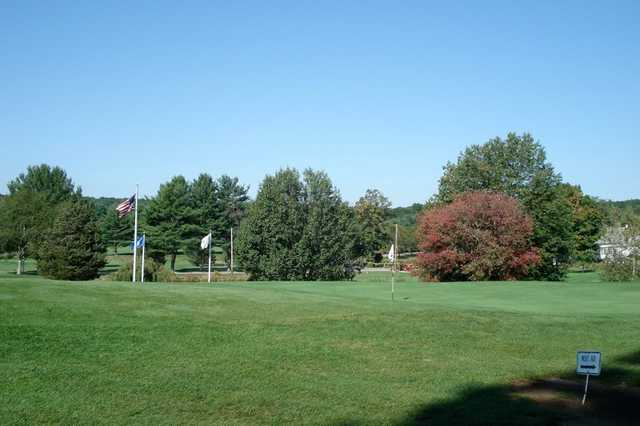 A view of green #7 at Foster Country Club
