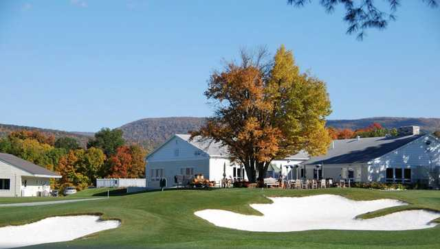 A view of the clubhouse at Mt Anthony Golf & Tennis Club