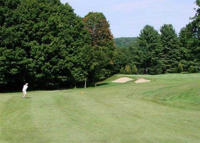 A view of hole #17 at Brattleboro Country Club