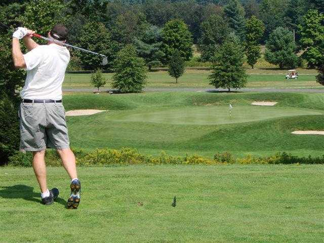 A view of the 8th green at Brattleboro Country Club