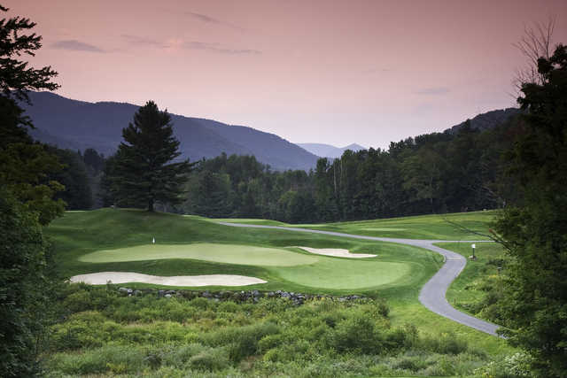 A view of the 7th green at Green Mountain National Golf Course