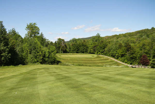 A view of hole #2 at Killington Golf Resort