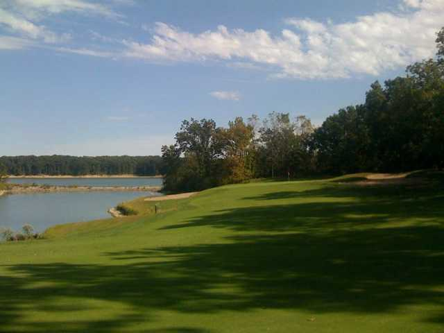 A view of green #14 from Eagle Creek Golf Course