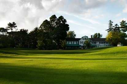 A view of the clubhouse at Sterling Farms Golf Course