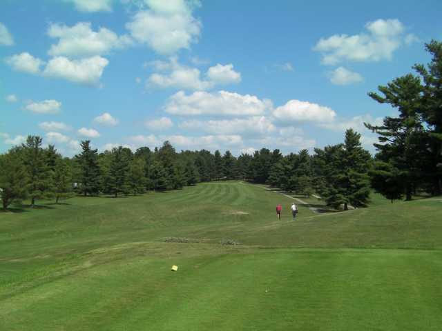 A view from a tee at Irish Hills Golf Course