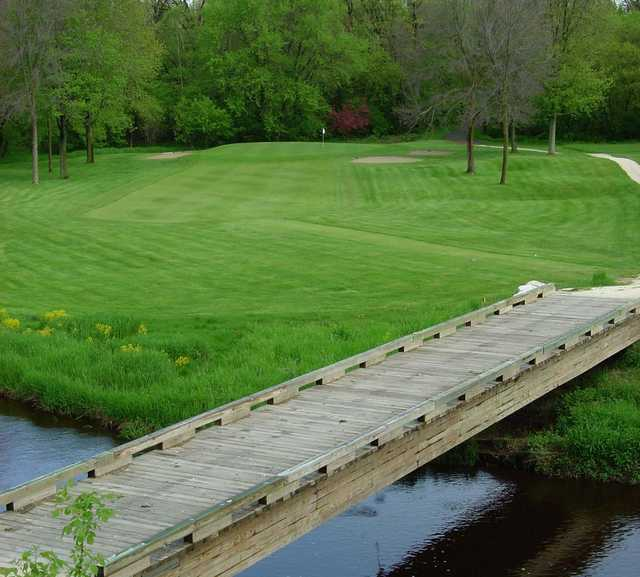 A view over the bridge of the 13th hole at Branch River Country Club
