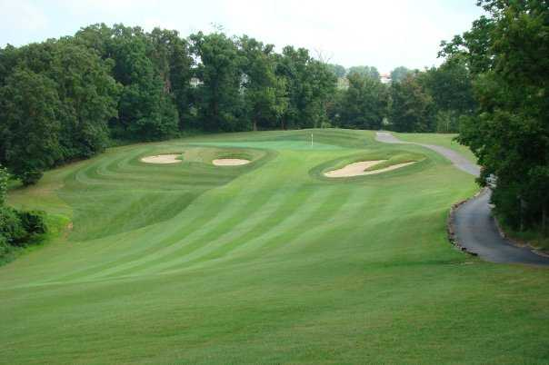 A view of the 8th hole after renovation from the Cove course at Lodge of Four Seasons