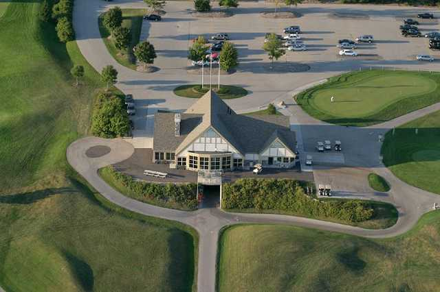 Aerial view of the clubhouse at Washington County Golf Course