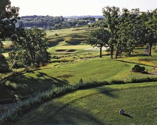 A view from tee #3 at Hawk's View Golf Club - Como Crossings Course