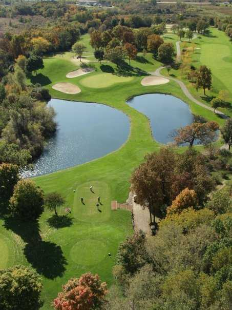 Aerial view from Brute Course from Grand Geneva Resort