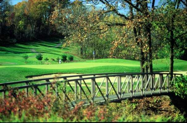 A view of green #3 at The North Nine Course from The House on the Rock Resort and Golf Club