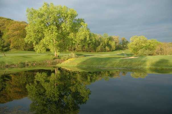 A view of hole #2 at The North Nine Course at House on the Rock Resort & Golf Club