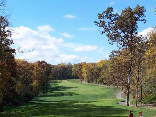 A view of hole #10 at University Ridge Golf Course