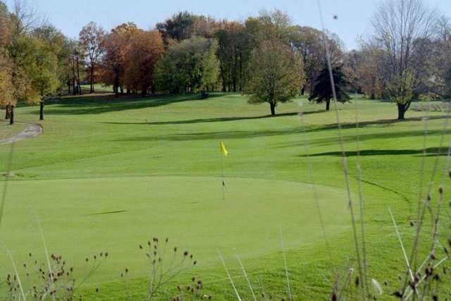 A fall view of green at Meridian Sun Golf Club