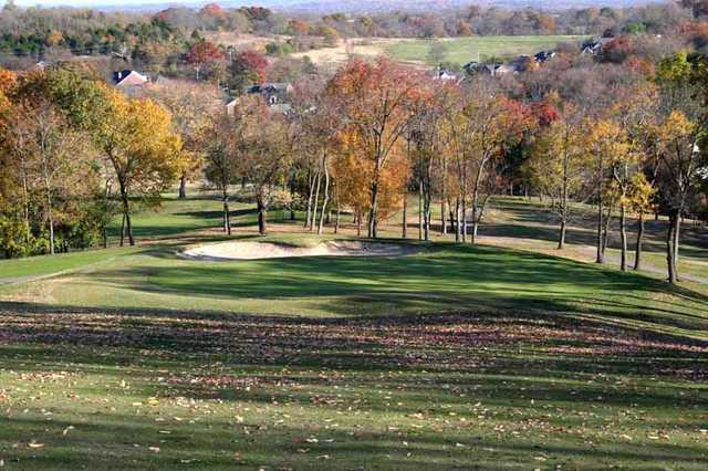 A fall view of green at Country Hills Golf Club