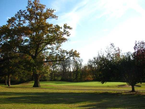 A view of green #11 at Ravenwood Golf Club