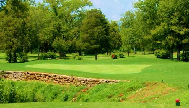 A view of a green at Cedar Crest Golf Club